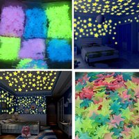 home decoration 100 pcs diy 3D Stars Glow In The Dark Wall Luminous Fluorescent Stickers For Kids Baby room ceiling 4OSF