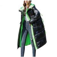 Die 2021 Women Designer Kleidung 202111121 Mantel Lange Parkas Übergröße Frauen glänzend Winter dicke Daunen Baumwolljacke Damen # T2G
