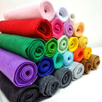 Tecido de feltro macio não tecido de feltro de tecido patchwork DIY bonecas de costura artesanato acessórios material 1.4mm de espessura