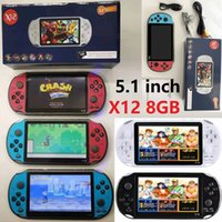 X12 Handheld Game Players 8GB Memory Portable Video Game Consoles with 5.1 inch Color Screen Support TF Card 32gb MP3 MP4 5 Player Unisex