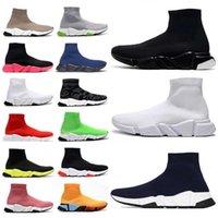 [상자 포함] 2021 디자이너 남자 여성 속도 트레이너 2.0 2 양말 부츠 양말 캐주얼 신발 여성 주자 러너 스니커즈 36 -45 VDB7 #