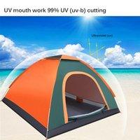 التخييم الخيام السياحية التلقائي 3-4 شخص الأسرة السفر خيمة الصيد خيمة للماء الشمس المأوى المطر المشي الشاطئ في الهواء الطلق كبيرة والملاجئ