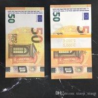 Moderne Argent Euros 10/20/50 Copier Paper Banknote PROP ARGENT EURO 100PCS / PACK LIBRE ECHAP 02