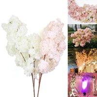 Dekoratif Çiçekler Çelenk Kiraz Çiçekleri Yapay DIY Düğün Dekorasyon Ev Buketi Faux Şubesi Bebeğin Nefesi Gypsophila Sahte