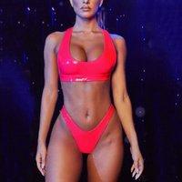 Bras Sets Red Women Bandeau Bandage Underwear Set 2021 High Quality Push-Up Brazilian Bathingwear Wire Free Female Lengerie Lady Intimates
