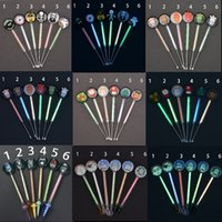 Colorful Sand Glass Cartoon Dabber Smoke Oil Wax Dab Spoon Tool 155mm Glow in dark different style Bongs waterpipe