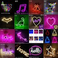 Multi Styles Neon Light Signs Wall Decor LED Lamp Rainbow Battery or USB Operated Table Night Lights for Girls Children Baby Room