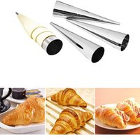 5 10Pcs Tools Conical Tube Cone Roll Moulds Spiral Croissants Molds Cream Horn Mould Pastry Mold Cookie Dessert Kitchen Baking Tool