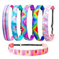 Women Headbands Tie Dye Sports Head Bands Elastic Rubber Yoga Sweatbands Hair Accessories Fashion Gift 6 Designs BT6571