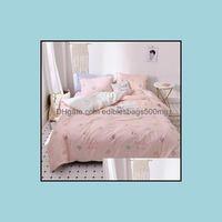 Bedding Supplies Textiles Home & Gardenbedding Sets Ab Side Washing Cotton Luxury Set Soft Bedclothes Duvet Quilt Er Bed Linen Sheet 4 Piece