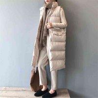 Femmes de printemps gilet manteau manteau de support long col chaud chaleco mujer gilet casaco féminino 210517