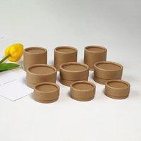 Eco amigável 50 pcs / lote papelão de papel laber jarra Kraft 100% cera alinhada biodegradável biodegradável presente de presente