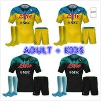 20 21 Napoli 축구 유니폼 나폴리 축구 셔츠 2021 Koulibaly Camiseta de Fútbol Insigne Milik Maillots H.Lozano Mertens 성인 + 키트 키트