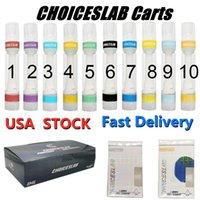ABD hisse senedi choiceslab vape kartuşu tam seramik 510 iplik vapes kalem boş atomizer 0.8 ml e sigara arabaları cam kalın yağı buharlaştırıcı kalemler snap hızlı teslimat üstleri