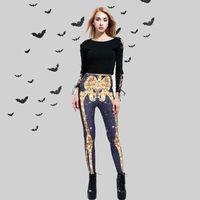 Pantaloni da donna Capris Costume di Halloween Costume Ghost Stampa stretta donna ad alta vita leggings moda casual festival 2021
