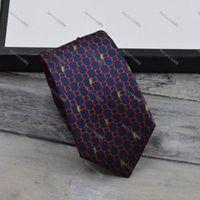 남성 넥타이 디자인 남성 넥타이 패션 목 넥타이 편지 인쇄 Luxurys 디자이너 비즈니스 갈비 목걸이 Corbata Cravattino