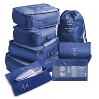Storage Bags 8 Pieces Set Travel Organizer Suitcase Packing Cases Portable Luggage Clothes Shoe Tidy Pouch
