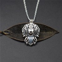 Elfin Trendy Long Haired Dachshund Necklaces Gold Color Silver Animal Dog Jewellery Pendant Women Men