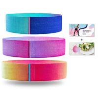 Belts 3PCS Lot Fitness Rubber Band Elastic Yoga Resistance Bands Set Hip Circle Expander Booty Home Workout