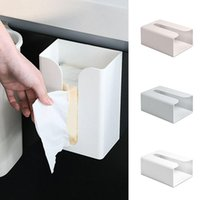Tissue Boxes & Napkins Portable Wall Mounted Toilet Kitchen Box Paper Holder Punch Free Organizer Case Home Decoration Stock