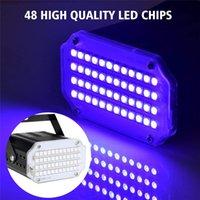30st 48 LED-lampor Mini Blinkande Disco LED-effekter Lampa RGB UV Vit Stråle Stage Lights Ljud aktiverat för DJ-fester Bröllop KTV Stroboscope