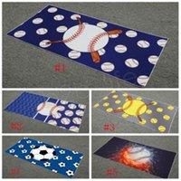 Baseball and Football Series Design Wygodne Miękkie Prostokątne Ręcznik Plażowy Ręcznik Sportowy Dostosowywanie Sofa Pościel Koc Przenośny Praktyczny