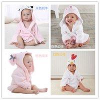 20 diseños toallas con capucha Modelado de animales Baby Bathrobe / Baby Baby Spa Toalla / Personaje Niños Bata de baño / Toallas de playa infantil 124 Q2
