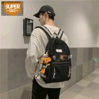 2021 all-match trendy sports backpack Japanese high-capacity high school student bag travel #3D42