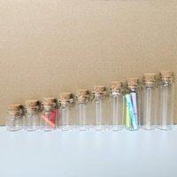 4 мл до 20 мл Dia 22 мм DIY мини желает для хранения стекла с пробкой крошечный пустой образец JARS поделки свадебные подарочные бутылки лаборатории лаборатории