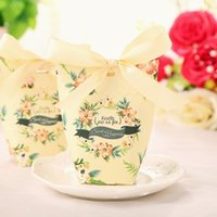 Gift Wrap 30pcs lot Candy Box Wedding Favors Paper Boxes With Ribbon Baby Shower Birthday Gifts Bag Party Supplies
