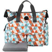 Diaper Bags Mummy Maternity Bag Oversized Opening Nursing Messenger Check Pattern Designer Stroller For Baby Care
