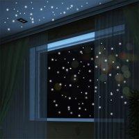 Lueur chaude dans le point rond sombre sombre autocollants lumineux autocollants muraux vinyle comme star dans la nuit Anniversaire romantique Anniversaire 639 S2