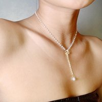 Pendant Necklaces Imitation Pearls Beaded Clavicle Chain Necklace For Women Vintage Butterfly Trendy Collar Jewelry Gifts