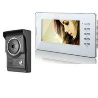 "Video Door Phones 7"" Monitor Phone Intercom System Wired Doorbell Kit For Home Villa"
