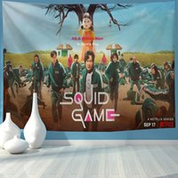 Squid Game Series Wall Tapestry Room Hanging Cloth Bohemian Tapestry Decoration for Sofa Door Curtain Beach Towel Table Cloth 95x73cm