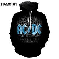 ACDC Rock-Band 3D-Druckfeder und Herbst-Langarm-Baumwollhoodie gerade Männer-Pullover der Kinder