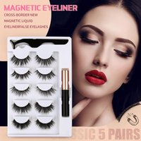 False Eyelashes Magnetic With 5 Magnets Natural Handmade 3D 6D Magnet Fake Lashes Acrylic Box Makeup Tool Cosmetics