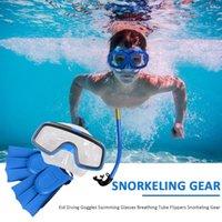 Masques de plongée Snorkeling Sambo Masque Lunettes de protection et Snorkel Set Enfants Sous-marine Scuba Tube respiratoire