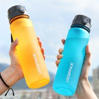350ml-1000ml Mug Portable Fitness Outdoor Sports Anti-drop Water Cup Reusable Simple Modern Plastic Drinking Utensil Water Bottle