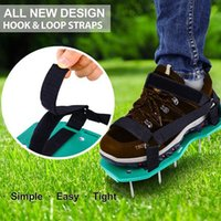 Outdoor Lawn Aerator Sandals Garden Nail Shoes Garden Yard Grass Cultivator Scarification With Hook Loop Strap Grassland Tool