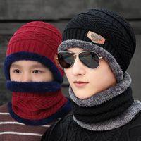 Moda hombres mujeres invierno terciopelo espesando juventud versión coreana lana sombrero otoño e invierno sombrero de punto sombrero de algodón para mantener caliente