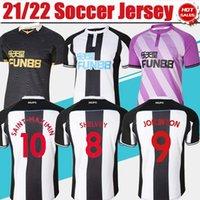 2021 2022 United Firma Futbol Forması # 13 Wilson # 8 Shelvey # 12 Gayle Ev Futbol Gömlek Erkekler 21/22 Kaleci Mor # 21 Fraser # 11 Ritchie Kısa Kollu Futbol Üniformaları