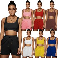 plus size summer Women solid color Two piece sets casual Tracksuits sports jogger suit letter outfits short sleeve t shirt+mini shorts 5378