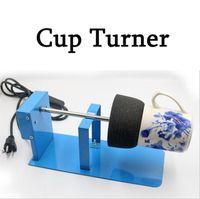 Turnbler Turner Alliage d'alliage d'alliage d'aluminium Coupes Machine Tumblers Spinner Kit avec sponge OWF8768