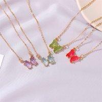 Nette Schmetterling Anhänger Halsketten Für Frauen Halskette Straße Stil Modeschmuck Geschenke 396 B3