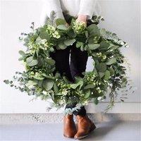 Decorative Flowers & Wreaths CYUAN Eucalyptus Wreath Gifts Diy Christmas Creative Artificial Garland Hanging Pendants Wedding Decoration Hom