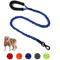 Dog Collars & Leashes High Elastic Srong Nylon Line Soft PP Handle For Large Walking Training Reflective Collar Leads Pets Supplier