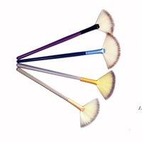 Fan Soft Fan Slim Profissional Maquiagem Escova Pequena Tamanho Fundação Escovas Com Cores Diferentes AHB6303