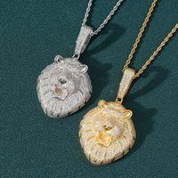 Hip Hop CSGO Necklace Mens Punk Style 18K Alloy Gold Silver Plated lion head Charm Pendant High Quality Cuban Chain