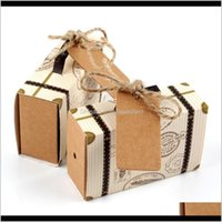 Wrap Ourwarm 10Pcs Paper Candy Gift Box Travel Suitcase Chocolate Bag Gifts For Guest Wedding Favor Birthday Party Decoration 5O2Ep 0Oc1O